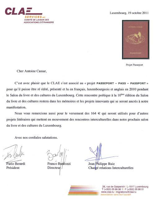 CLAE - Comité de Liaison des Associations d'Étrangers, Luxembourg
