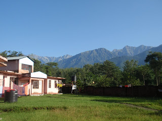 The camp and morning school at Sungal, Himachal Pradesh