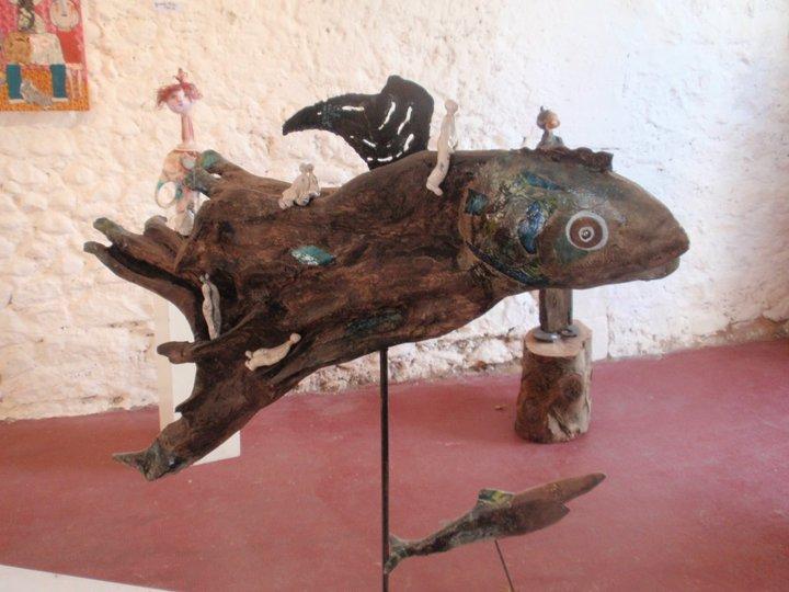 Sculpture seen in Lodève, France, July 2012