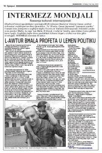 Intervista ma' Mario Azzopardi, In-Nazzjon, is-7 ta' Frar 2012