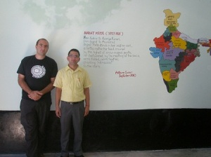With the headmaster of Jandpur School, Palampur, India, 2010  Photograph © Ana Alcalde