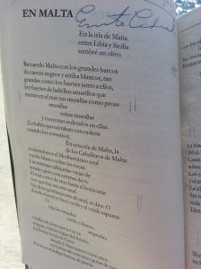 """En Malta"", a poem by Nicaraguan revolutionary poet Ernesto Cardenal."