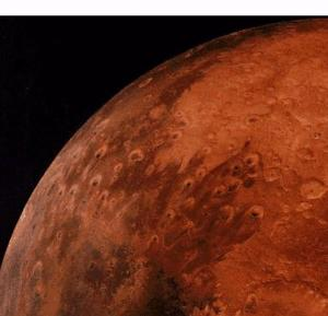 The planet Mars, as seen from the Viking spacecraft. (NASA)
