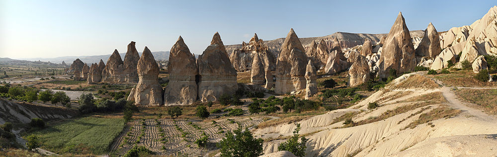 The 'fairy chimneys' of Cappadocia. (Wikipedia)