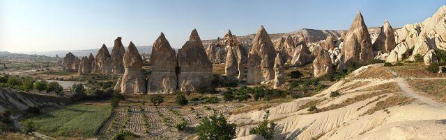 The 'fairy chimneys' of Cappadocia. (Wikipedia)