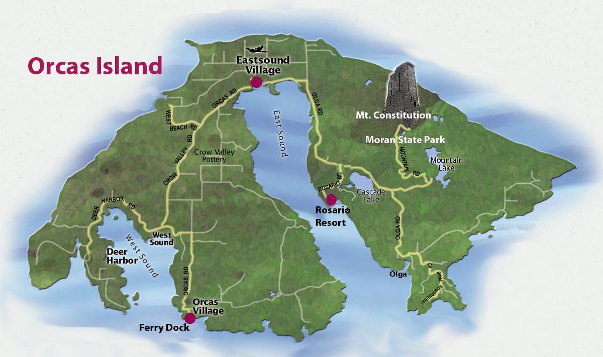 Washington Island Campground Map