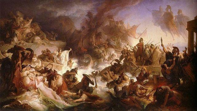 Wilhelm von Kaulbach, Die Seeschlacht bei Salamis, 1868 (source: Wikipedia)