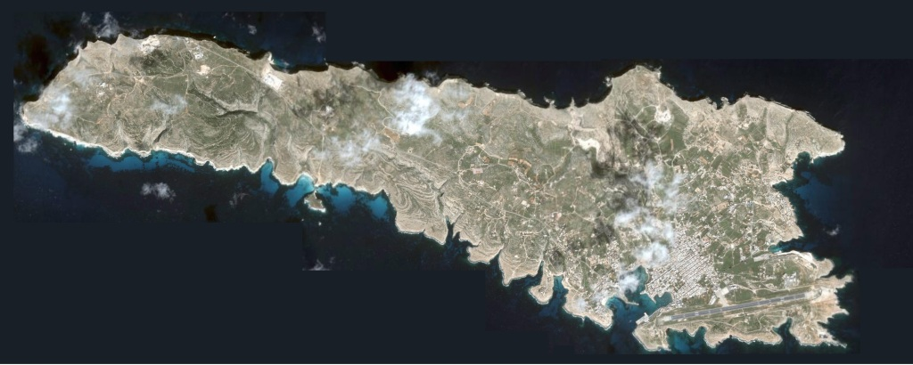 Lampedusa from space