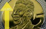 1120 per cent Mandela 5 rand coin